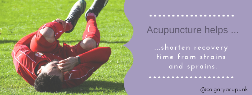 acupuncture for sprains and strains