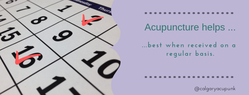acupuncture helps best when received on a regular basis